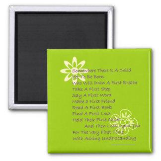 Poem for New Parents Fridge Magnet (Lime)
