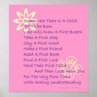 Poem For New Parents Keepsake Poster (Hot Pink)