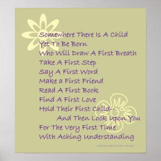 Poem For New Parents Keepsake Poster (Modern)