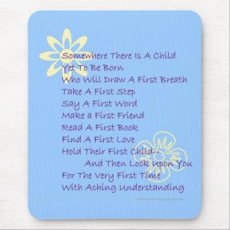 Poem for New Parents Mousepad (Blue)