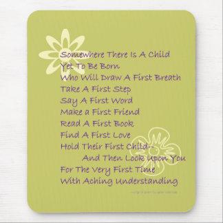 Poem for New Parents Mousepad (Mod)
