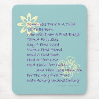 Poem for New Parents Mousepad (Mod Blue)