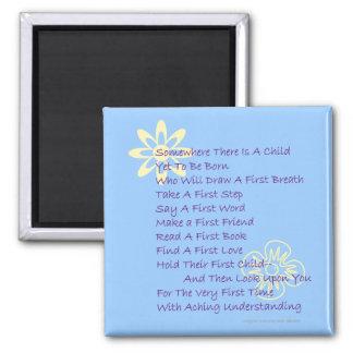 Poem for Parents-to-be Refrigerator Magnet (Blue)