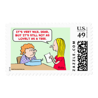 poem lovely as a tree postage stamp