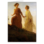 Poem of the Soul On the Mountain by Louis Janmot Greeting Card