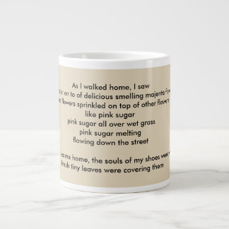 """poem """"Petals"""" by Elizaveta Limanova Giant Coffee Mug"""