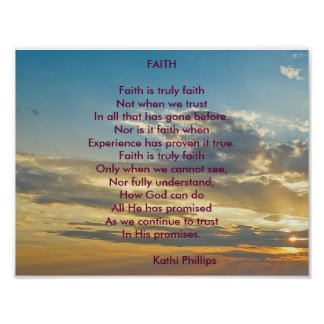 "Poem Poster: ""Faith"" Poster"