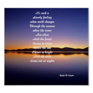 Poem posters-It's such a lovely feeling Poster