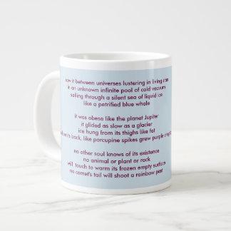 "poem ""Sepparated"" by Elizaveta Limanova Giant Coffee Mug"