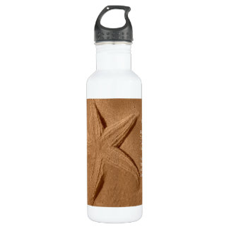 Poem Star In The Sand By Ladee Basset Water Bottle