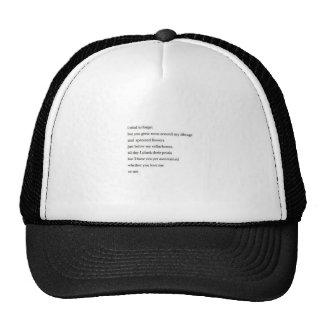 Poem t shirt trucker hat