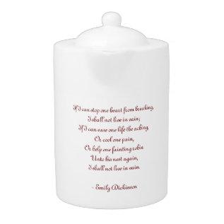 Poem Teapot at Zazzle