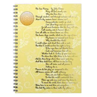 Poem The Rising Sun by John Donne Notebooks