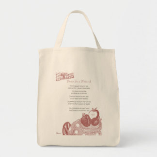 Poem to a Friend Canvas Bags