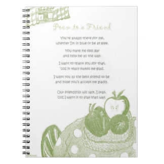 Poem to a Friend Spiral Note Books