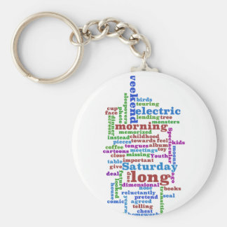 Poem Wordle Keychain