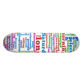 Poem Wordle Light Skateboard