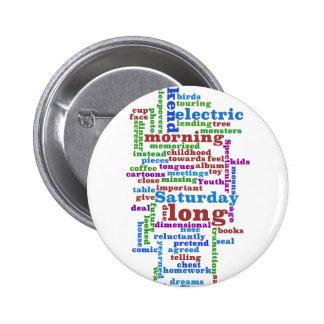 Poem Wordle Pinback Button