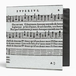 """Poema a la música de Jean Antoine de Baif Carpeta 1 1/2"""""""