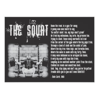 Poema agazapado - poster del gimnasio