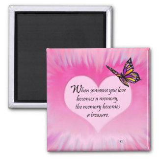 Poema atesorado de la mariposa de las memorias imán para frigorifico