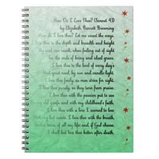 ¿Poema cómo lo hace el thee del amor de I? Note Book