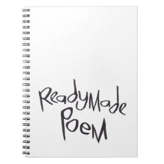 Poema confeccionado cuaderno