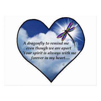 Poema conmemorativo de la libélula postal