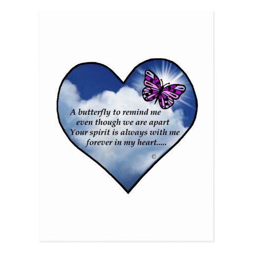 Poema conmemorativo de la mariposa tarjetas postales