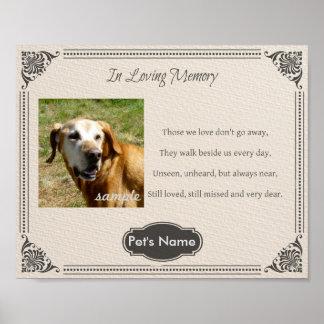 Poema conmemorativo del mascota de encargo - póster