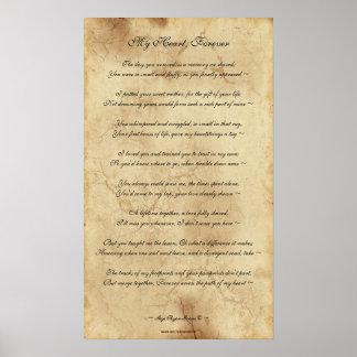 Poema conmemorativo del mascota en el poster XIV d