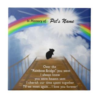 Poema conmemorativo del puente del arco iris para  azulejo cuadrado pequeño