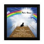 Poema conmemorativo del puente del arco iris para  cajas de recuerdo