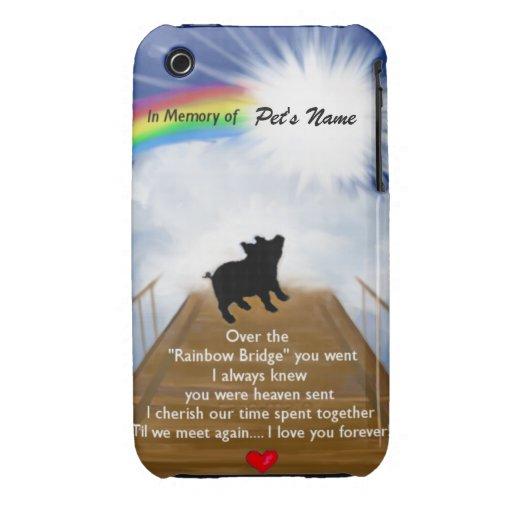 Poema conmemorativo del puente del arco iris para iPhone 3 cárcasas