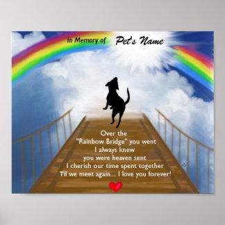 Poema conmemorativo del puente del arco iris para  poster