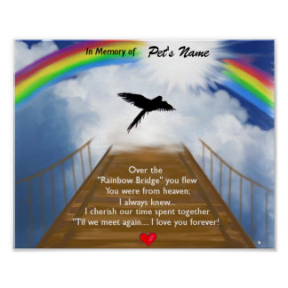 Poema conmemorativo del puente del arco iris para  impresiones