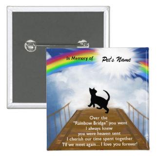 Poema conmemorativo del puente del arco iris para  pin cuadrado