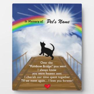 Poema conmemorativo del puente del arco iris para  placa de madera