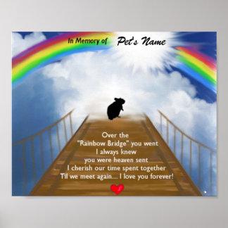 Poema conmemorativo del puente del arco iris para  póster