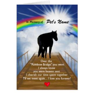 Poema conmemorativo del puente del arco iris para tarjeta pequeña