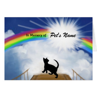 Poema conmemorativo del puente del arco iris para tarjeta de felicitación