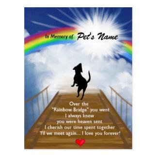 Poema conmemorativo del puente del arco iris para  postal
