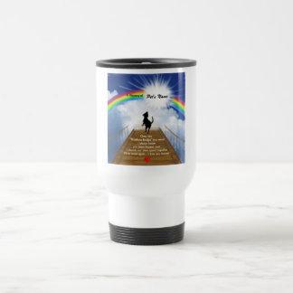 Poema conmemorativo del puente del arco iris para  taza