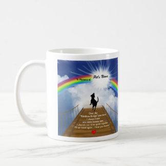 Poema conmemorativo del puente del arco iris para  tazas
