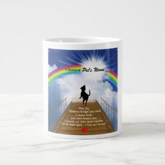 Poema conmemorativo del puente del arco iris para  taza grande