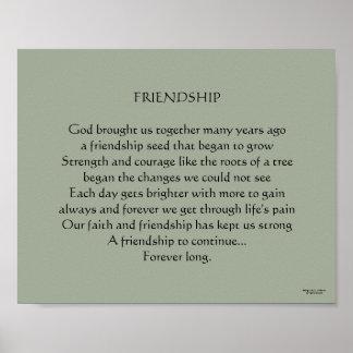 Poema cristiano de la amistad póster