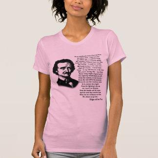 Poema de Edgar Allan Poe SOLO Playera