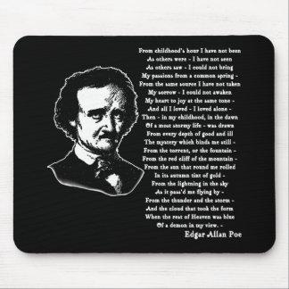 Poema de Edgar Allan Poe SOLO Tapetes De Ratón
