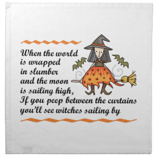 Poema de Halloween Servilleta