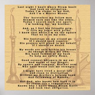 Poema de Hirams Póster